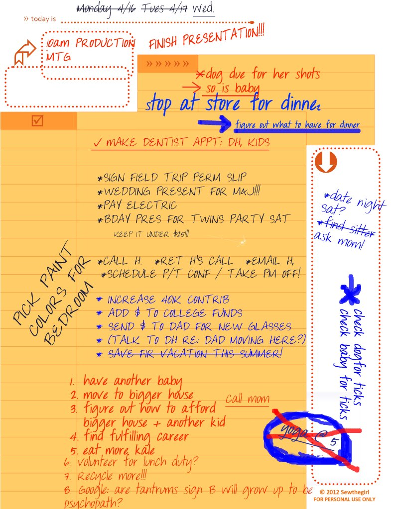 Mental To Do List Infographic